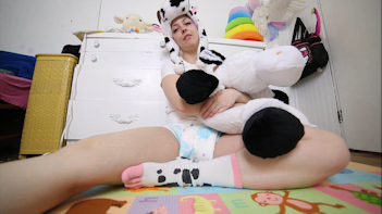 Diaper Angel Kimmie as a Cow