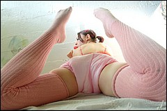 Kim in Pink Diapers